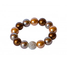 Armband Shell parels Taupe - Brown - Chartage