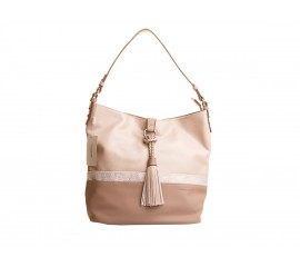Shopper Camel / Pink - David Jones